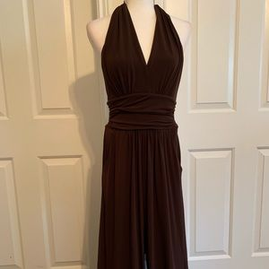 Sexy Dressy Jumpsuit. Halter top. Open back.